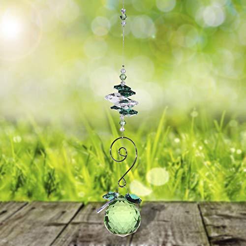 H&D 30mm Crystal Ball Chandelier Prism Ornaments Hanging Suncatcher (Green)