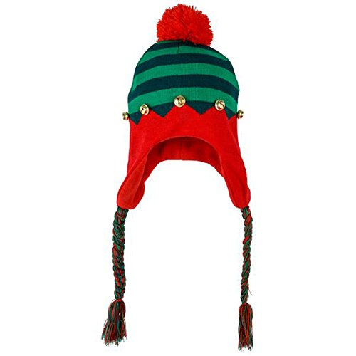 [ELF HAT WITH BRAIDS 1 pcs] (Elf Hats For Adults)