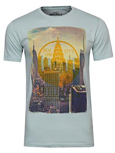 Jack & Jones Originals T-Shirt Kurzarmshirt Print-Shirt (L, Surf Spray)
