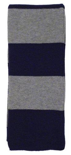 Simplicity Winter 2-Tone Striped Acrylic Neck Scarf, Navy/Grey
