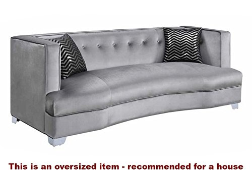 coaster home furnishings 505881 caldwell collection sofa, silver