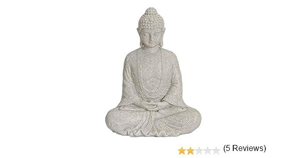 Unbekannt Figura de Buda meditando 25 cm en altweiss, decoración ...