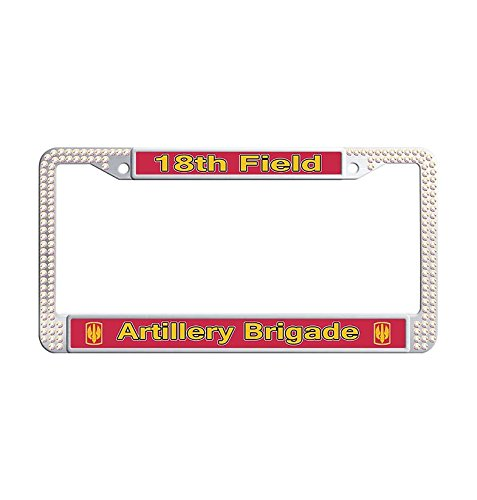 Used, Glitter crystal LLicense frame,18th Field Artillery for sale  Delivered anywhere in USA