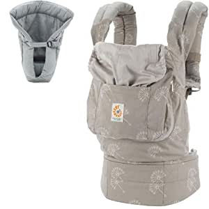 ErgoBaby Organic Collection Dandelion Baby Carrier with Grey Insert