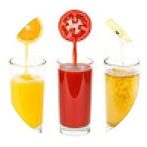 alfombrilla de ratón jugos de frutas y hortalizas frescas - ronda - 20cm