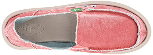 Distressed Coral Sanuk Flat Donna Women's Spiced vxOOaqEP