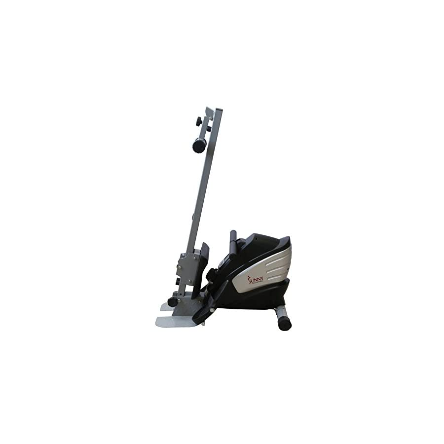 Sunny Health & Fitness SF RW5622 Dual Function Magnetic Rowing Machine Rower w/ LCD Monitor