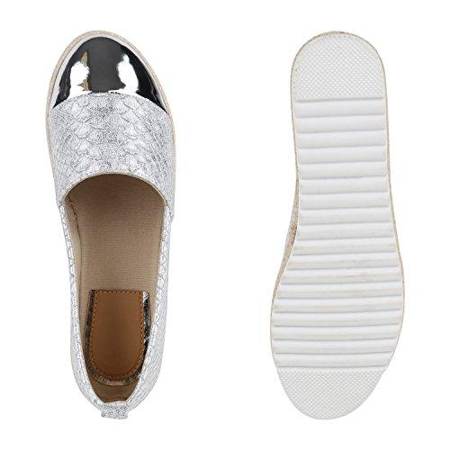 Denim Slipper Ballerinas Kroko Ons Silber Glitzer Stiefelparadies Slip Flandell Print Metallic Kroko Flats Espadrilles Übergrößen Lack Damen Schuhe Pailletten Lack CFvB5x7