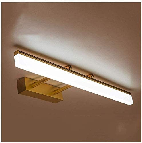 Pllp Home Decorative Mirror Lights Led Bedroom Bathroom Wall Lamp Moisture Proof Dressing Table Light Mirror Cabinet Light Adjustable White Light 40cm 8w