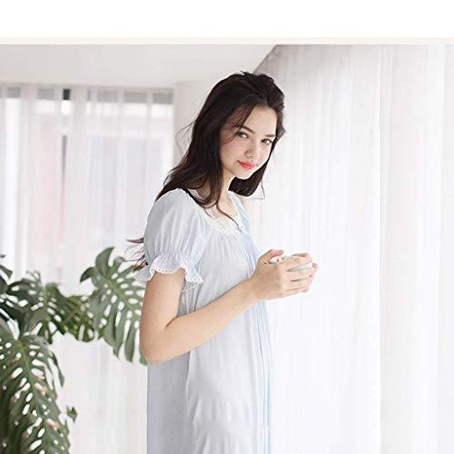 Noche Camisones Princesa Casa De Japonés Verano Dormir Mangas Pijamas La Azul Calentamiento Ropa Dchen Sueltas Cortas Camisa Damas Modelos Cómodo Hombres Sche q8gfOtz