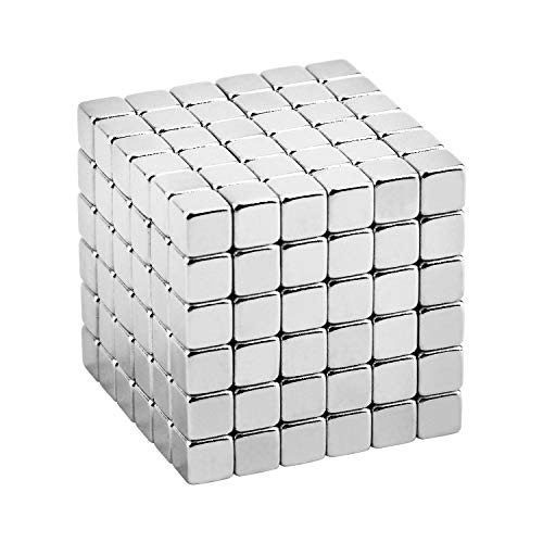 (EDC Fidgeter 5mm Magnetic Cube Puzzle Prime Quality Fidget Toys Fidget Cube, 216 Pieces. Ideal Office Stress Relief Executive Desk Toy. Magic Metal Square Fidget Magnets Cool Gadget)
