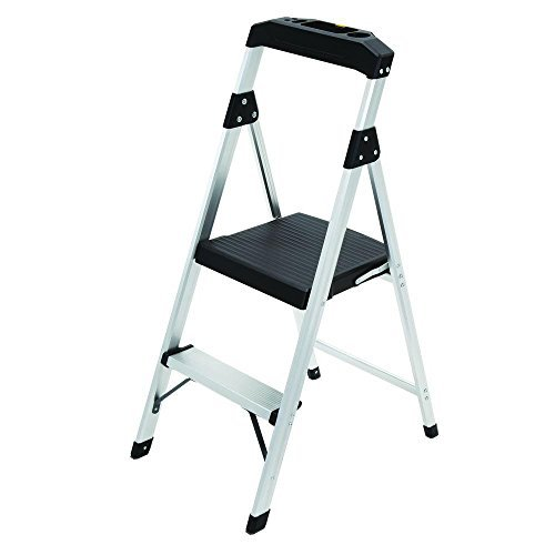 2-Step Aluminum Ultra-Light Step Stool Ladder with Project Tray Top and 225 lb. Capacity, ANSI Type 2 Duty Rating