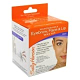 Sally Hansen Eyebrow, Face & Lip Wax, Microwaveable, wax 1.25 oz (35 g), Extrasoothe lotion 0.5 fl oz (14.7 ml)