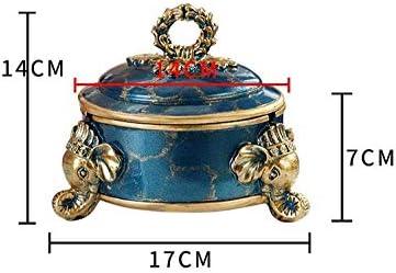 Luckya 蓋アンチフライアッシュリビングルームレトロ灰皿大と蓋パーソナライズ象の灰皿と屋内灰皿のための灰皿灰皿
