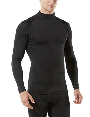 TM-MUT12-KLB_2X-Large Tesla Men's Mock Long-Sleeved T-Shirt Cool Dry Compression Baselayer MUT12
