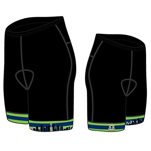 Canari Cyclewear Men's Seattle Souvenir Exert Cycling Short - 1019-STC (Seattle - S)