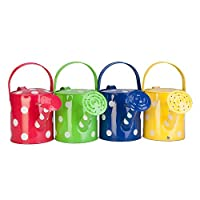 Panacea Products Corp 1/2 Gallon, Polka Dot Watering Can, Sold as 2 Pack, Color May Vary