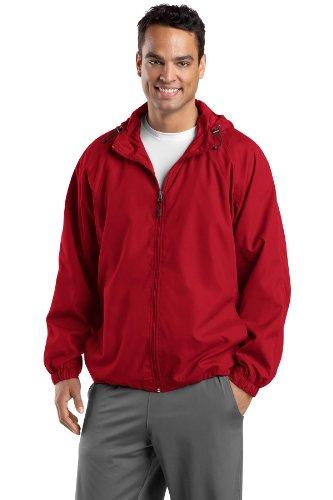 Sport hombre con Rojo capucha Tek chaqueta raglán True PfqRrTP
