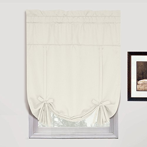 United Curtain Metro Woven Tie Up Shade 40 By 63 Inch Oyster