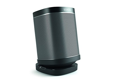 Vogel's Speaker Table Top Stand for SONOS Play – SOUND 4113 B Mount for SONOS One, Play 1 & 3, Black (Single stand)