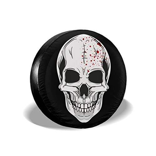 EQAZV Halloween Mask Clipart Waterproof UV Sun RV Trailer Tire Protectors Universal Fit Spare Tire Cover -
