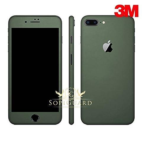 SopiGuard iPhone 8 Plus Carbon Fiber Full Body Precision Edge-to-Edge Coverage Easy-to-Apply Vinyl Skin Sticker (3M Matte Army (Iphone 4s Privacy Screen 3m)