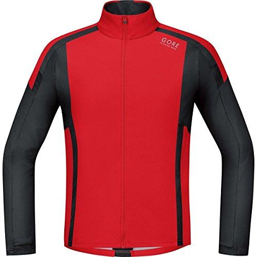 Gore Running Wear 2016 Men's Air Windstopper Soft Shell Long Sleeve Running Shirt - SWSAIR (red/black - XL)