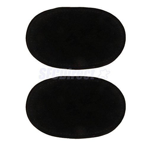 Pair Sew-On Fabric Oval Elbow Knee Patches Sweater Trousers Repair Craft Supply Black by sfcdirect