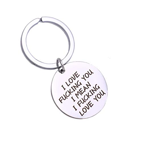 Runalp I Love Fucking You I Mean I Fucking Love You, Funny Keychain, for Lovers and Couples