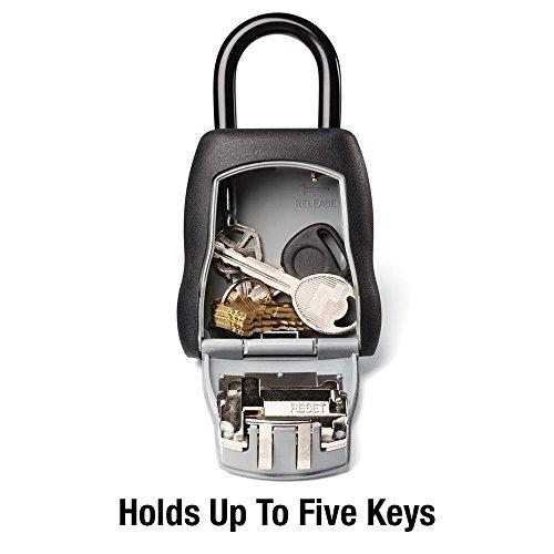 Master Lock 5400D Establezca su propia combinación Caja de bloqueo portátil Capacidad de 5 teclas Negro