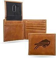 Rico Fan Shop Laser Engraved Billfold Wallet NFL Buffalo Bills Laser Engraved Billfold Wallet, Black
