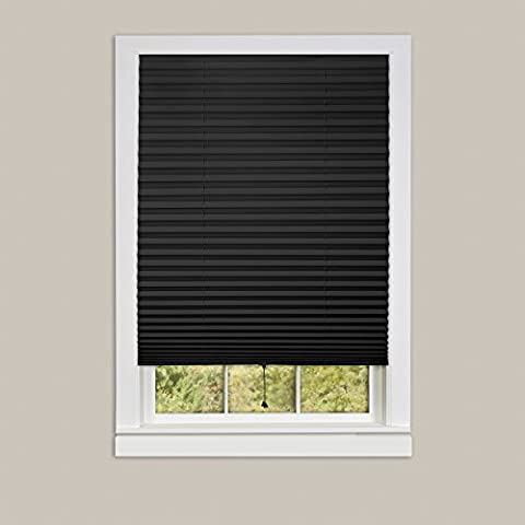 Achim Home Furnishings 1-2-3 Vinyl Room Darkening Temporary Pleated Window Shade, 48