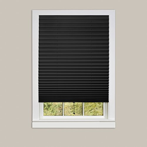 Achim Home Furnishings 1-2-3 Vinyl Room Darkening Temporary Pleated Window Shade, 36