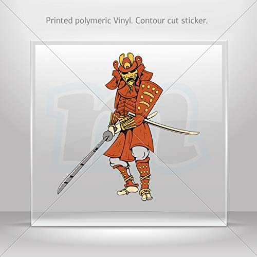 Martial Arts Various sizes Decals Decal Samurai Warrior Decoration Waterproof Racing Vehicle Tabl (8 X 7.64 Inches) - Heritage Competition Gloves