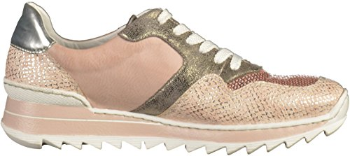 Rieker Mujeres Zapatos con cordones metalizado, (rose-silver/lightros) M6920-31
