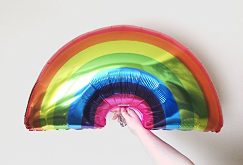 Large rainbow balloon, 36 inches of multicolour awesomeness. Perfect décor for unicorn or Wizard of Oz themed celebrations and birthday parties (In Oz Wizard Of Party Supplies)