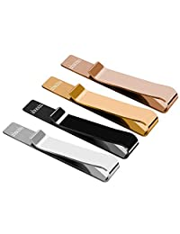 abooxiu 4pcs Tie Clip Bar for Men Stainless Steel Clips Set Skinny Tie Pin Necktie for Wedding Business