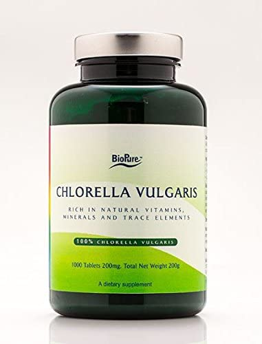 BioPure Chlorella Vulgaris 200 mg – 1000 Tablets