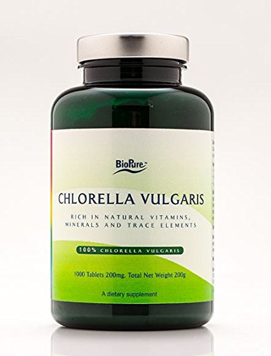 BioPure Chlorella Vulgaris 200 mg - 1000 tablets by BioPure