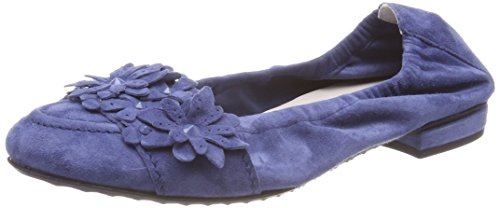 Kennel und Schmenger Women's Malu Closed Toe Ballet Flats Blue (Indigo 481) vFs9RJmW