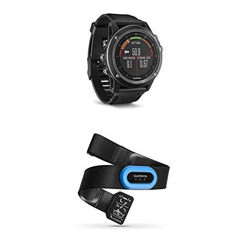 Garmin Fenix 3 HR, Gray and HRM-Tri Heart Rate Monitor