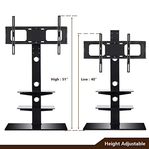 26846a8be Rfiver Black Floor TV Stand with Universal Swivel Bracket - Import It All