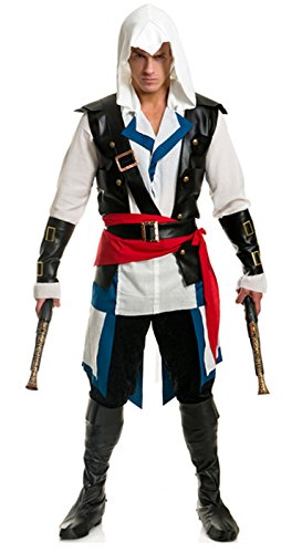 Men's Cutthroat Pirate Assassin Costume (Small)