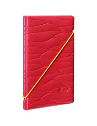 Woodmin Leaf Premium Shiny Synthetic Leather Passport Holder ID Card Wallet for Travel(Rose)