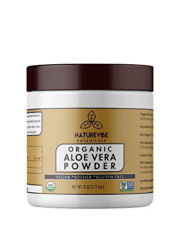 Organic Aloe Vera Leaf Powder  - Aloe Barbadensis - USDA Cer