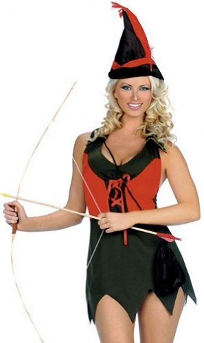 ToBeInStyle Women's 2 Piece Elf Archer Costume W/ Accessories - Small/Medium - Multicolored