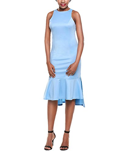 Buy light blue ruffle dress - 3