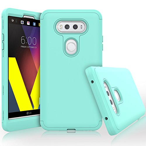 LG V20 Case, WeLoveCase Heavy Duty High Impact Defense Shield Hard PC Outer Shell with Inner Soft Rubber Hybrid 3 in 1 Combo Full-body Armor Protective Case for LG V20 Cool Mint Hybrid Full Range