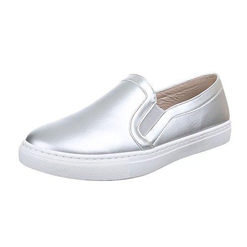 Ital-Design WoMen Slippers Silver