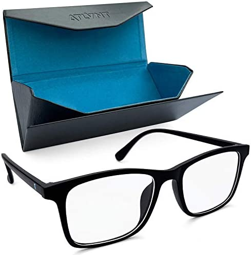 Blue Light Blocking Glasses, Computer Eyeglasses for Women and Men, Blue Filter Glasses to Reduce Eyestrain, Anti-Glare Gaming Glasses, Lightweight Computer Reading Eyeglasses